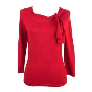 Nine West Red Long Sleeve Pull Over Cardigan | S